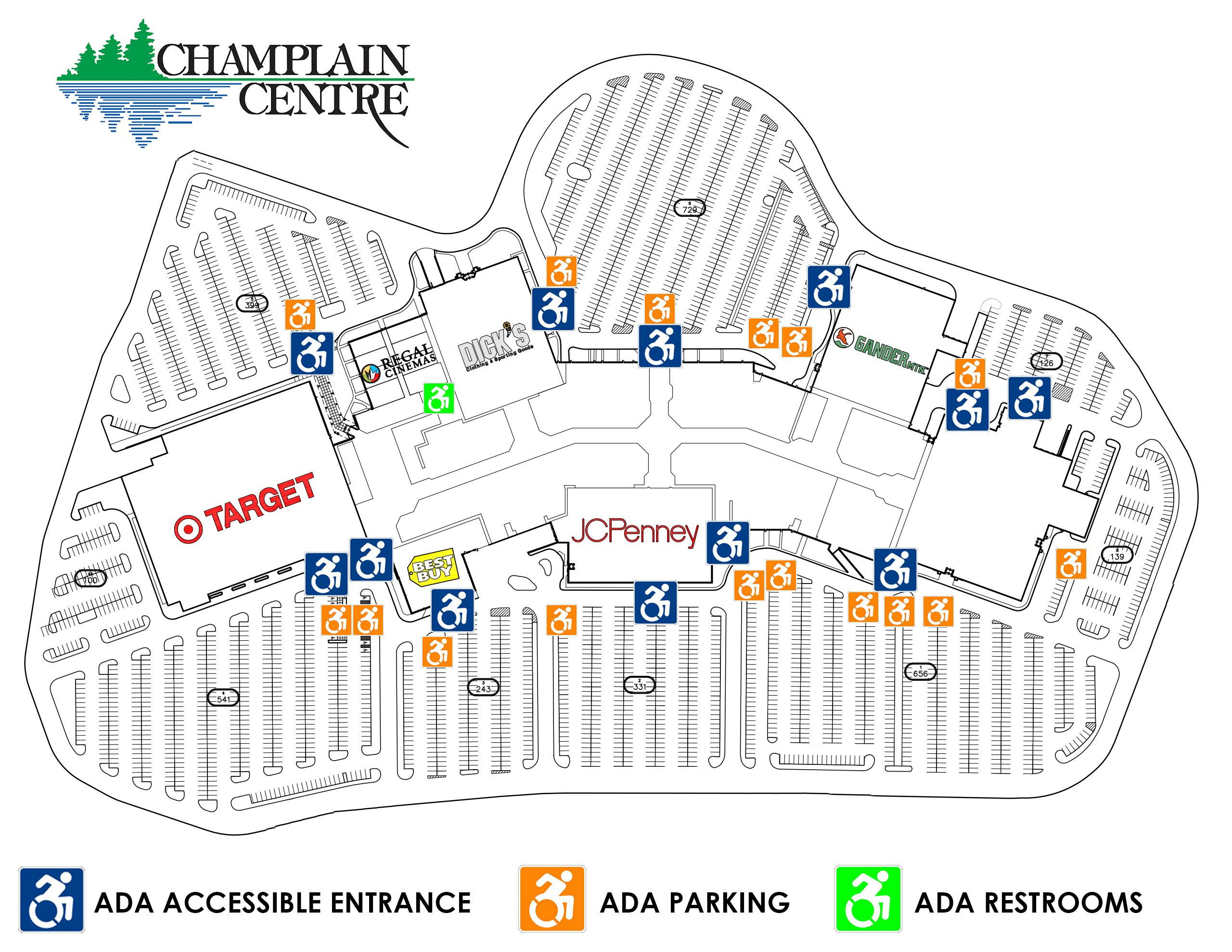 Champlain Center ADA Map